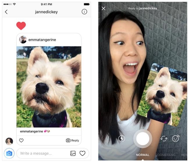 Instagram permitirá responder con fotos y videos