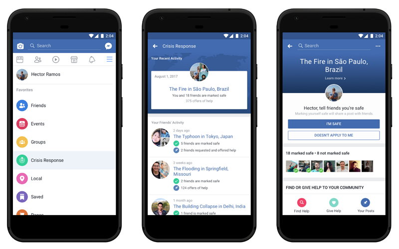 Facebook anuncia el Centro de Respuesta a las Crisis