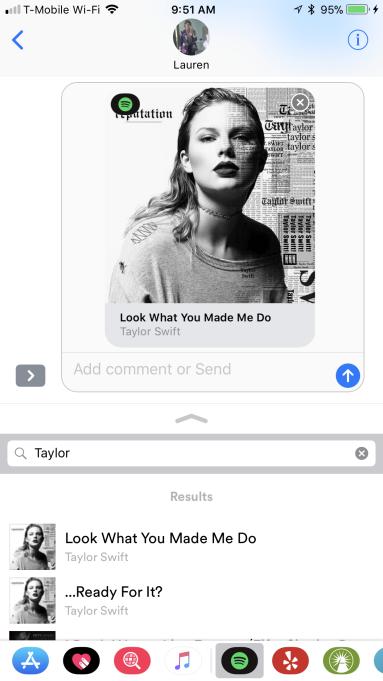 iMessage - Spotify - Compartir Música
