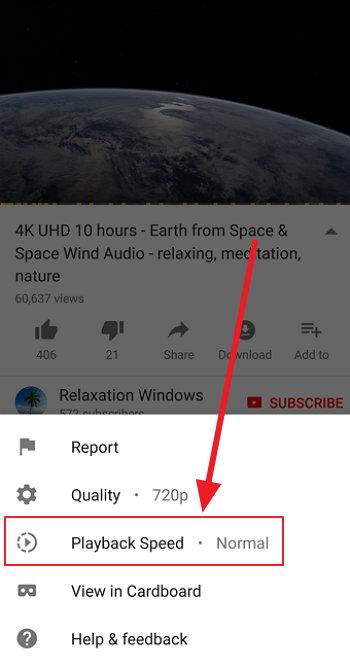 Youtube - Velocidad de Reproducción
