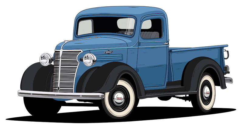 100 Años de Camionetas Chevroltet - 1938 Chevy Half-Ton