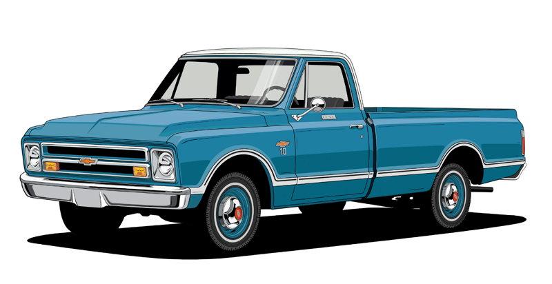 100 Años de Camionetas Chevroltet - 1967 Chevy C10 Fleetside
