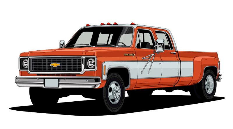 100 Años de Camionetas Chevroltet - 1973 Chevy C30 One-Ton Dually