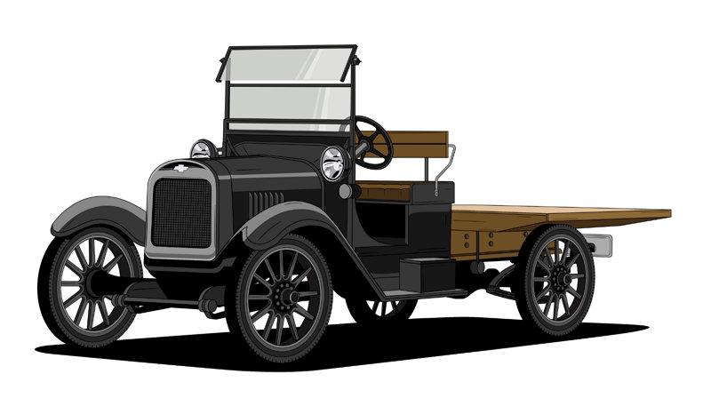 100 años de Camionetas Chevrolet - Chevy One-Ton 1918
