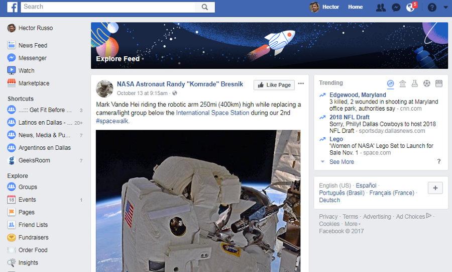 Facebook: Nuevo buscador sugiere posts de páginas y usuarios que no sigues
