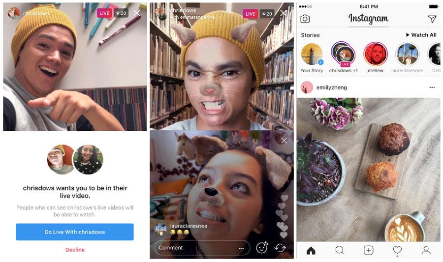 Instagram: Los pasos para una transmisión en vivo entre dos