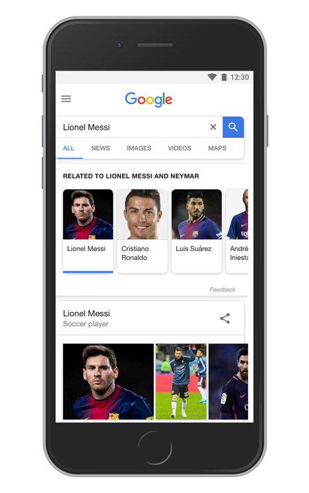 Google - Sugerencias Tópicos Relacionados