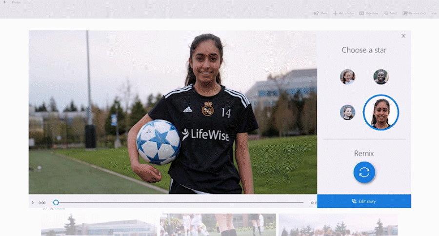 Microsoft Photos - Story Remix