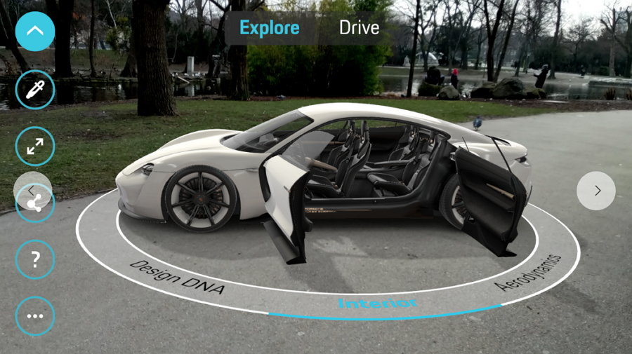 Google ARCore 1.0 - Porsche Mission E Concept