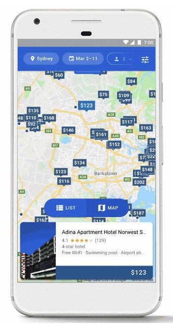 Google Viajes y Turismo - Hoteles