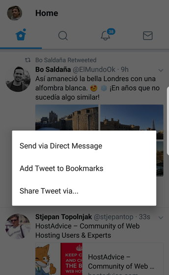 Twitter Bookmarks - Share