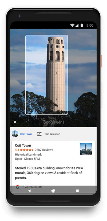 Google Fotos - Google Lens