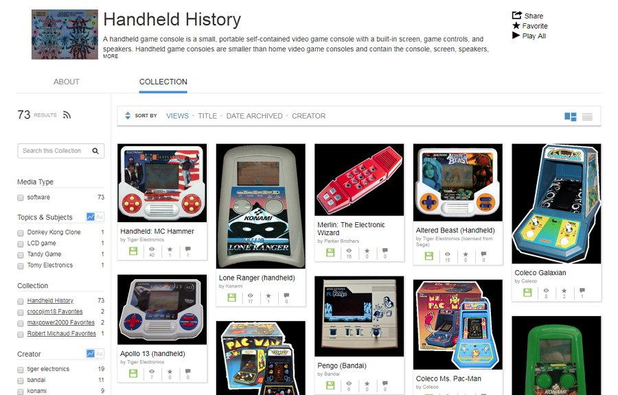 Internet Archive - Emulación de Juegos de Consolas Portátiles