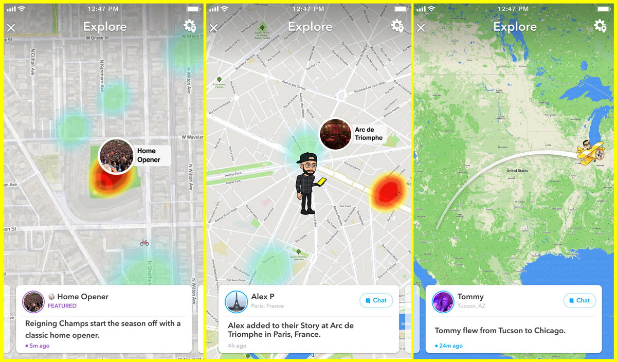Snapchat - Snap Map - Explorar