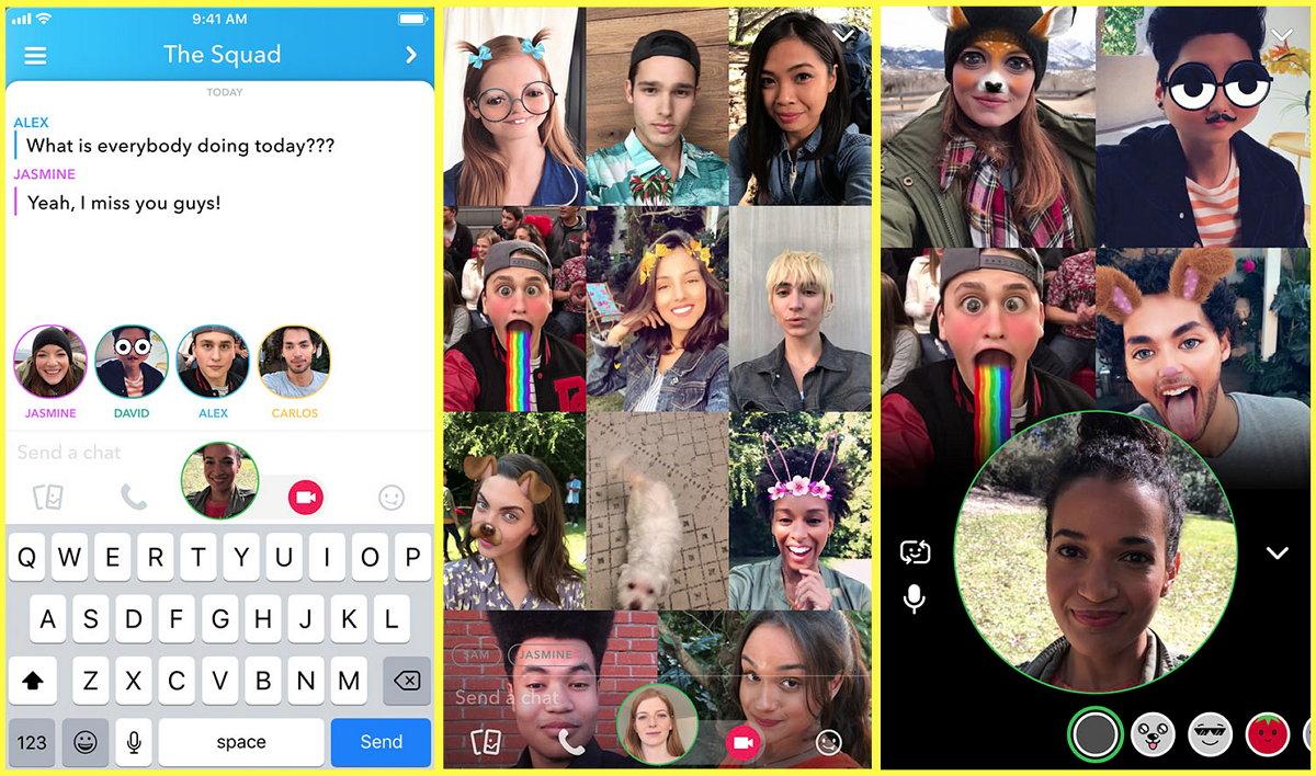 Snapchat - Vídeo Llamadas Grupales - Menciones