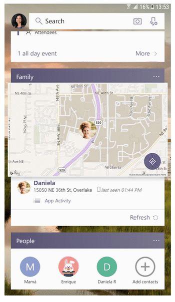 Microsoft Launcher - Ubicación de los Hijos