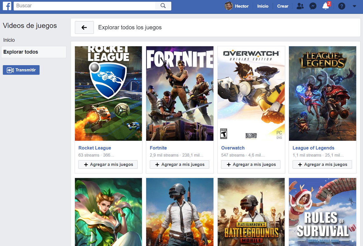 Facebook Gaming Desktop