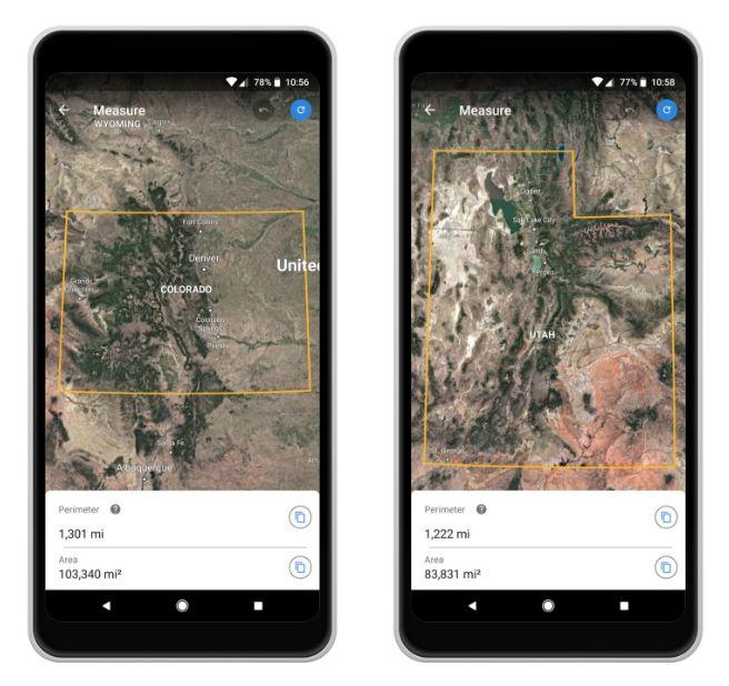 Google Earth - Herramienta de Medición