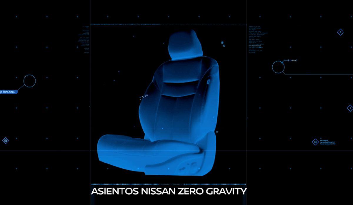 Asientos Nissan Zero Gravity