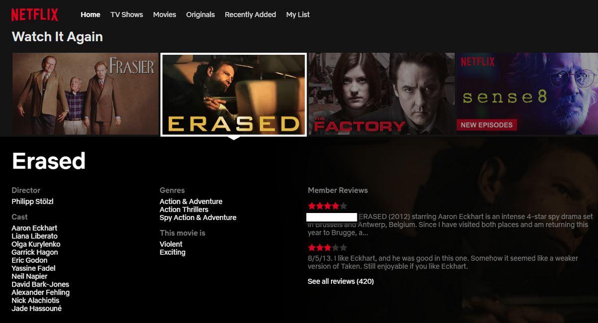 Netflix - Reseñas