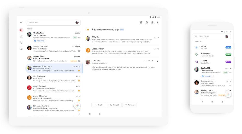 Gmail Nuevo Diseño Móvil