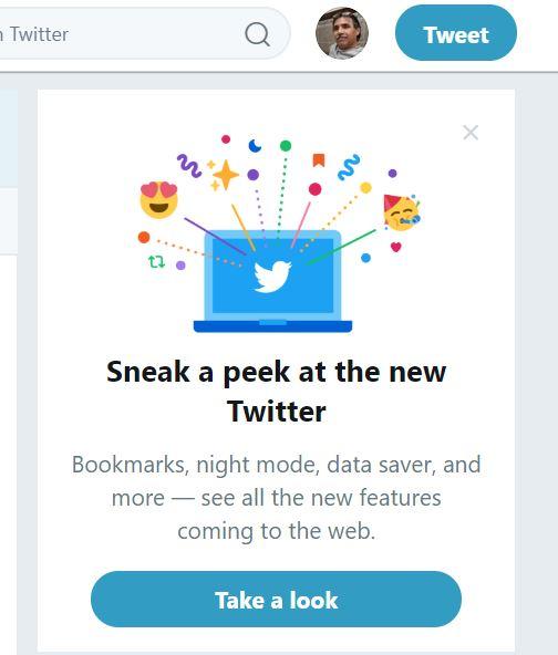 Twitter Web - Nueva Interfaz