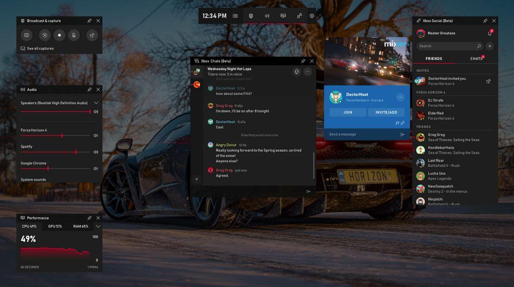 Microsoft Xbox - Barra de Juegos de Windows 10