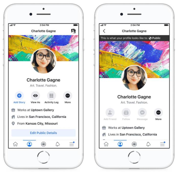 Facebook - Ver y Editar información pública