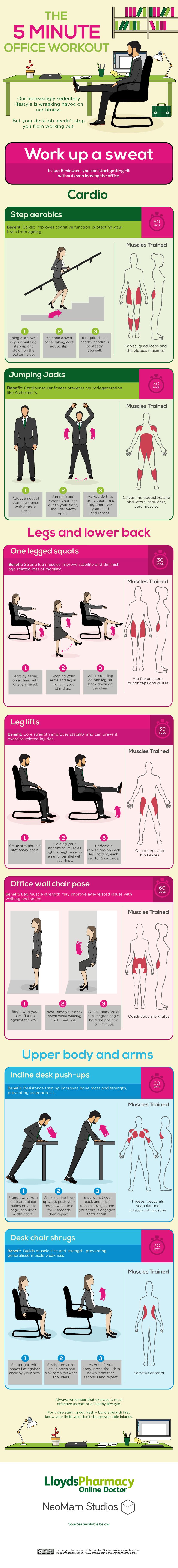 Ejercicios Físicos para la Oficina - 5 minutos