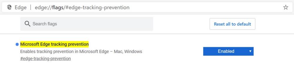 Microsoft Edge - Prevención de Seguimiento