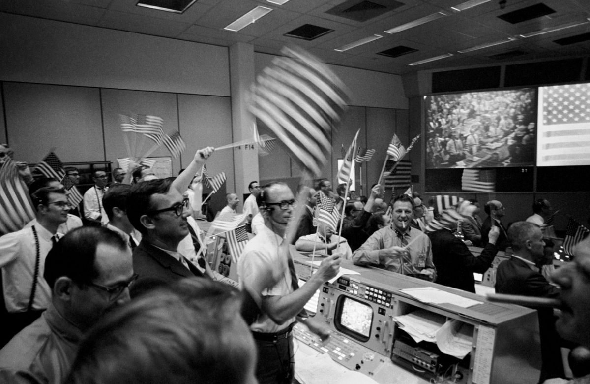 Centro de Control de la Misión Apollo 11 - NASA Houston