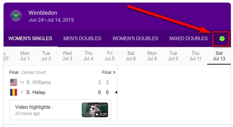 Google Tenis - Wimbledon