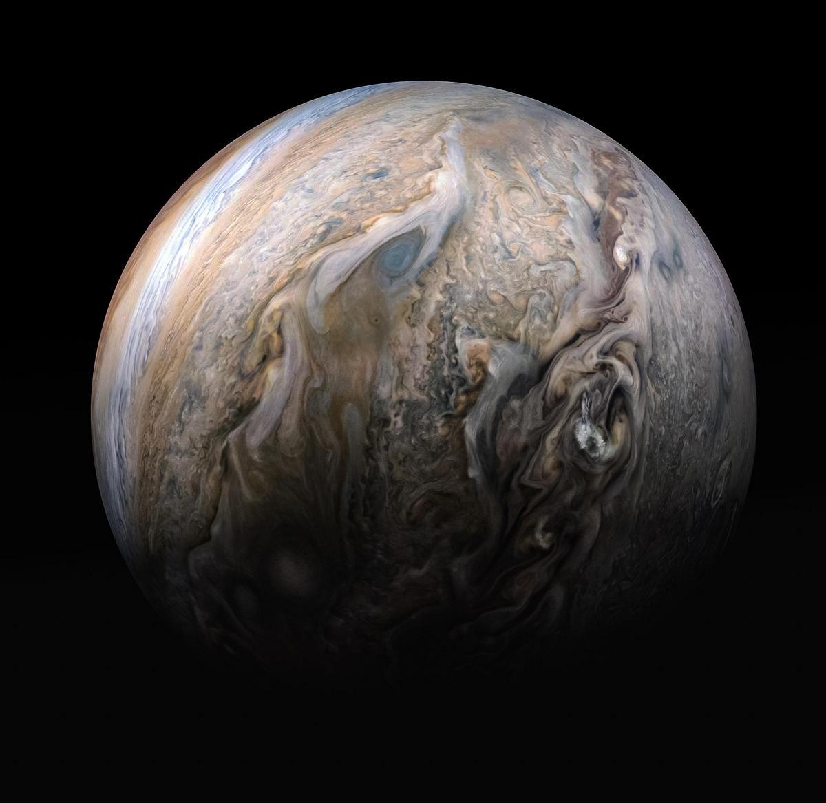 Sonda Juno - Nubes de Júpiter