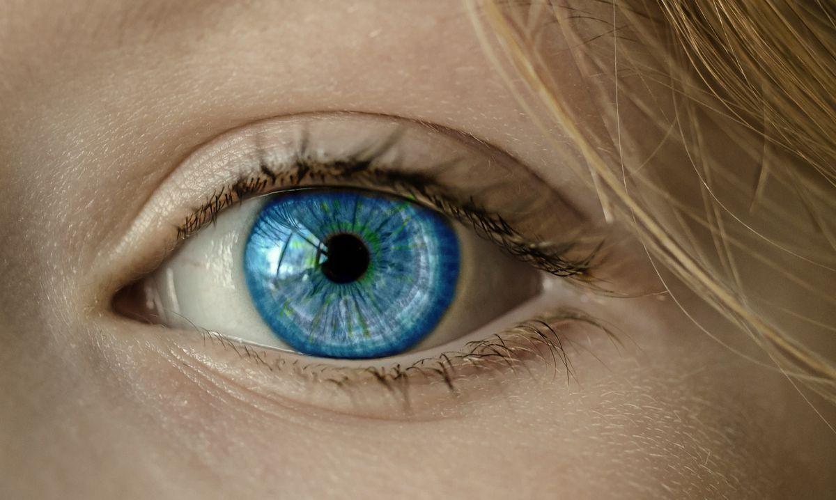 Ojo - lente de contacto
