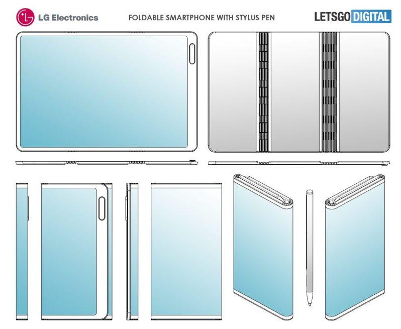 LG Smartphone Plegable - Patente