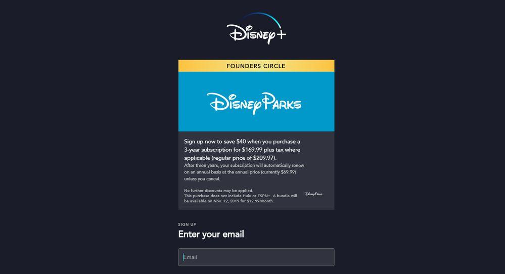 Disney+ Oferta de 3 años