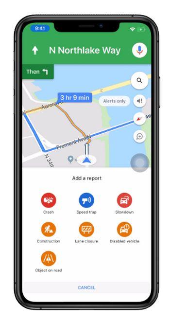 Google Maps - Reportar incidentes