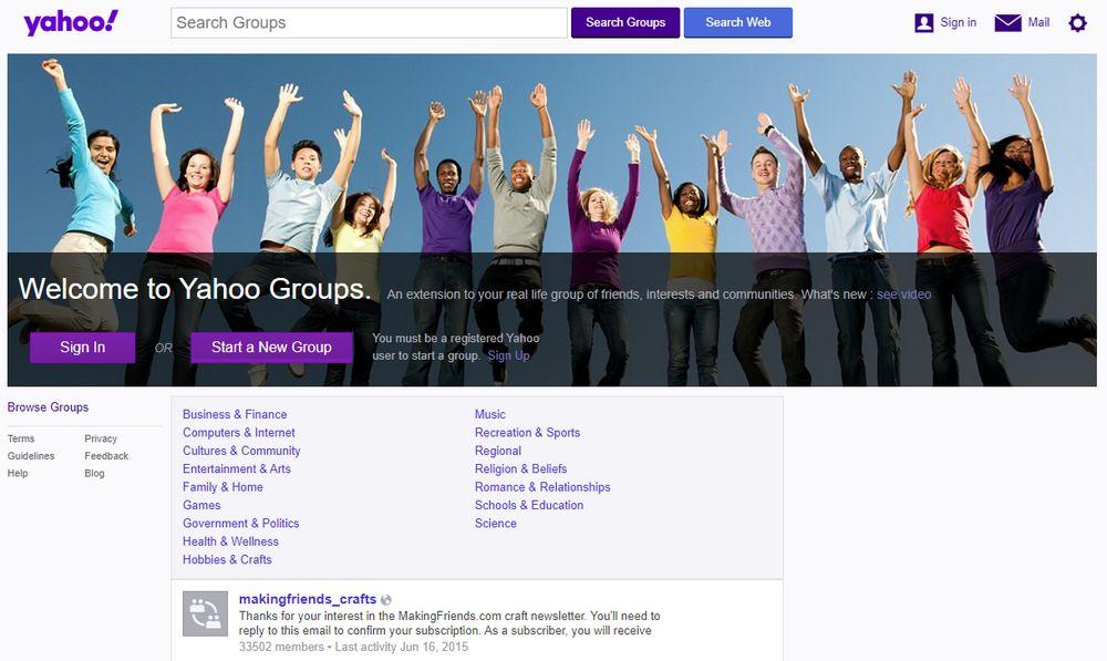 Grupos de Yahoo