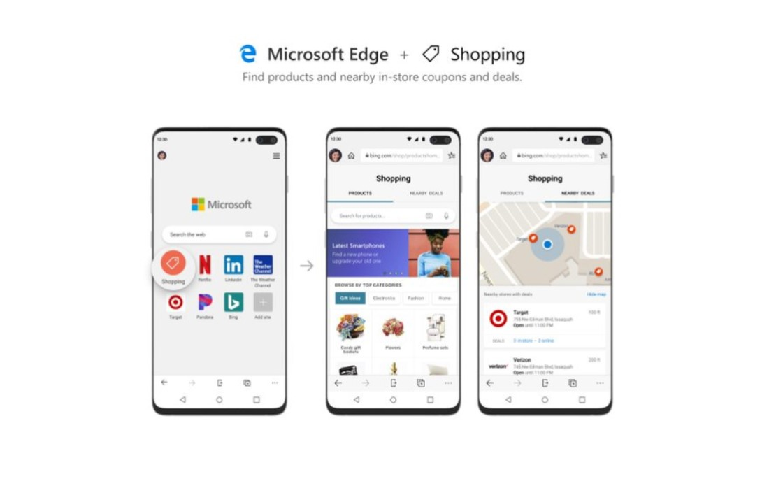 Microsoft Edge - Compras