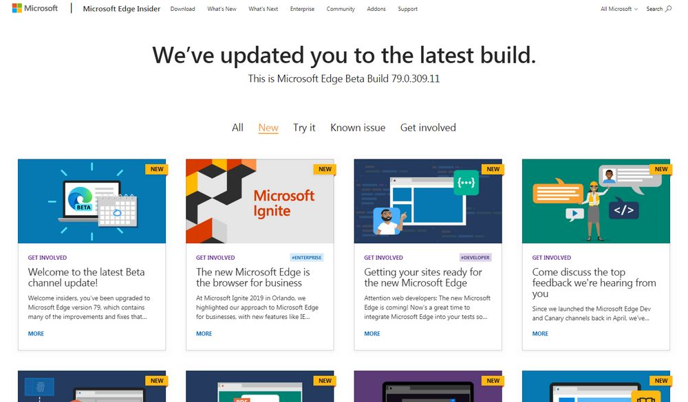 Microsoft Edge 79 basado en Chromium