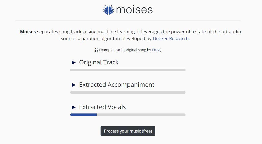 Moises - Separar Pistas de Canciones