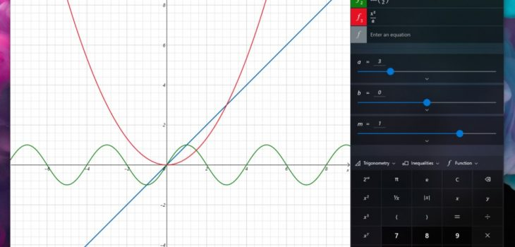 Calculador de Windows - Función de Gráficos