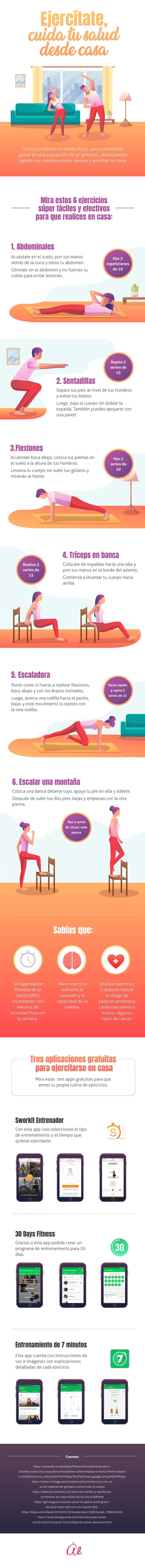 Diariamente Ali - 6 ejercicios fáciles para hacer en casa