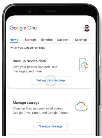 Google One - Respaldo Automático