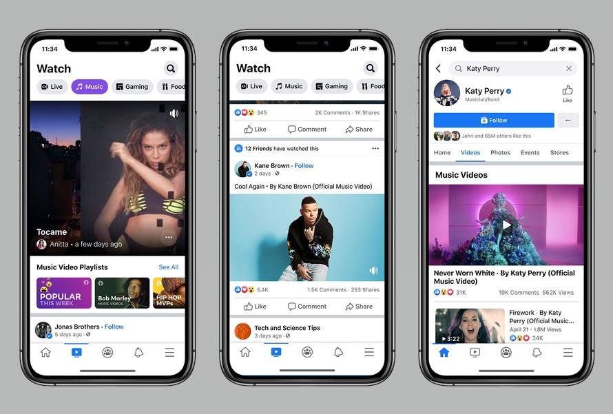 Facebook - Vídeos de Música