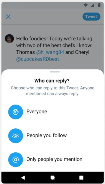 Twitter - Configuración de Respuestas