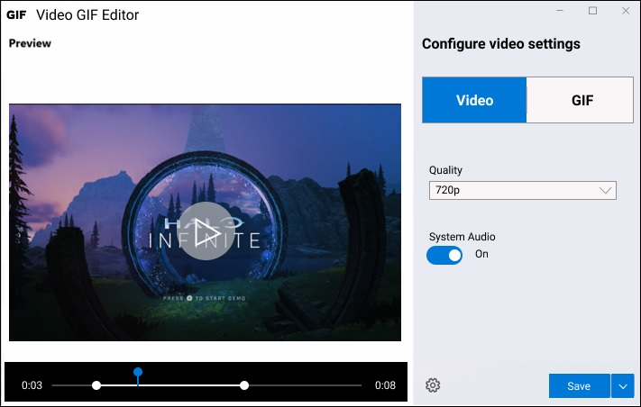 Microsoft Video GIF Capture