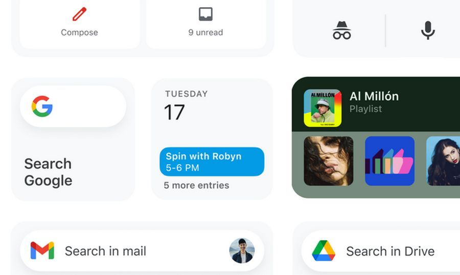 Google Widgets para iOS