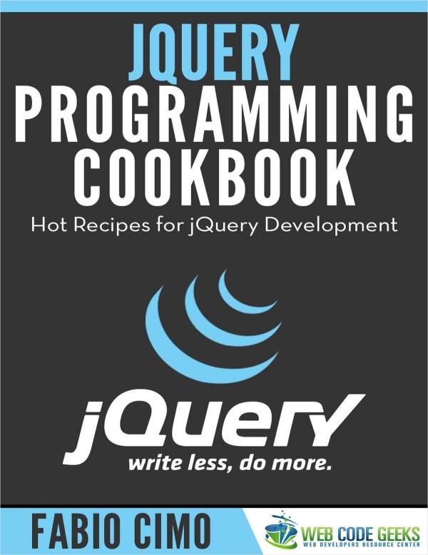 JQuery Programming Cookbook