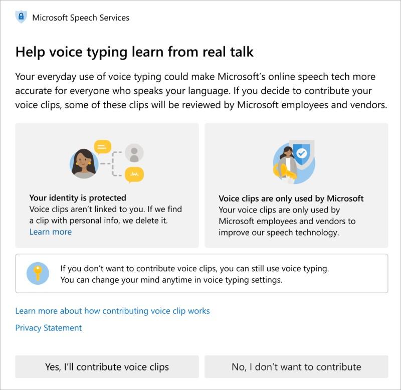 Microsoft Consent - Speech Recognition